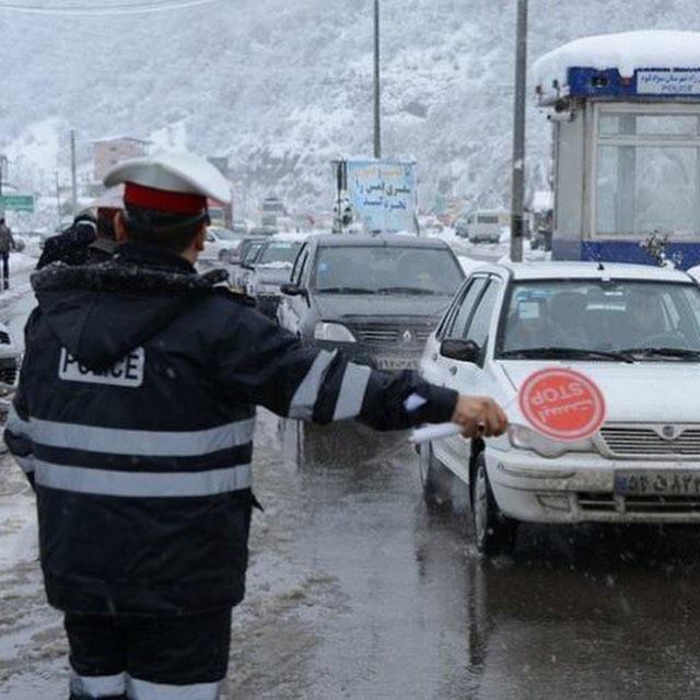 برف و باران در اکثر جاده های کشور