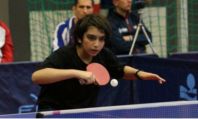 برنز نوجوان پینگ پنگ باز ایران در مسابقات فرانسه