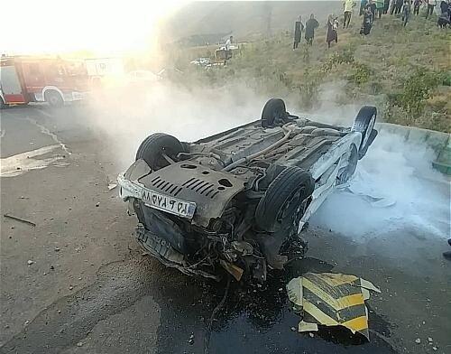 تصادف مرگبار در آزادراه زنجان - قزوین