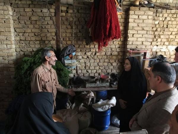 وضعیت بانوان فعال حوزه صنایع دستی در مناطق سیل زده لرستان بررسی شد